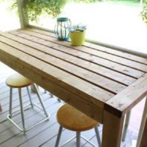 Sensational How To Build A 2X4 Outdoor Bar Table The Diy Dreamer Inzonedesignstudio Interior Chair Design Inzonedesignstudiocom